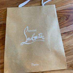 Christian Louboutin Paris Shoe Shopping Bag